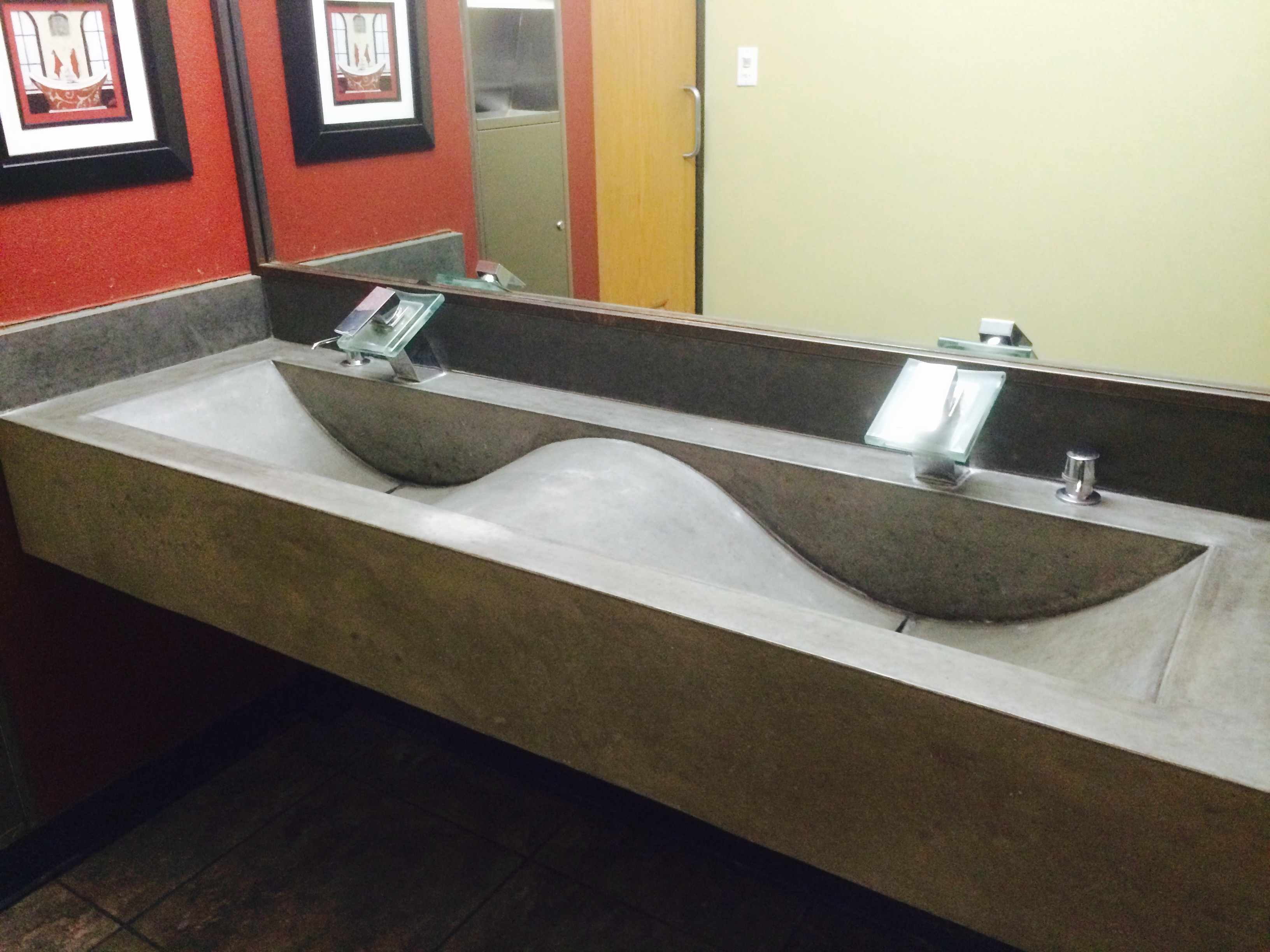Commercial bathroom sinks